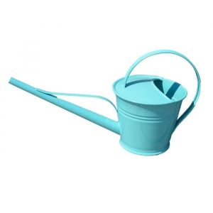 Mundus Arrosoir Léane 1,5 L - 41,8 x 16,3 x H 21,5 cm - Bleu - Arrosoir 1,5 L - Zinc et peinture époxy - Utilisation extérieure_x000D__x000D_ - Coloris : bleu