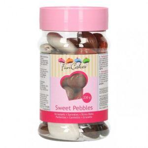 FunCakes Décoration cailloux en chocolat en pot - 230g