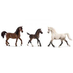 Schleich Figurines de chevaux arabe (étalon, poulain, jument)