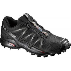 Salomon Homme Speedcross 4 Chaussures de Trail Running, Noir (Black/Black/Black Metallic), Taille: 45 2/3