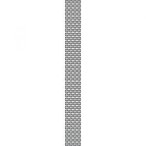 Plage Sticker déco carrelage Montefano vinyle 10x10 cm Noir et Blanc - Décoration carrelage adhésive - Géométrique Montefano - 9 planches - 10x10 cm - Noir et Blanc