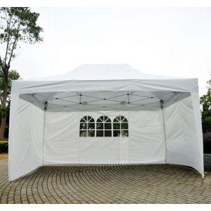 Homcom Tonnelle pour jardin pliante 3x4,5m - Tente de réception