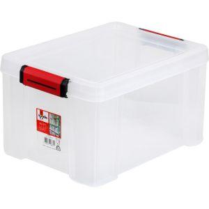 Sundis Bac Et Couvercle Clip & Store 17 L Transparent - L'unité