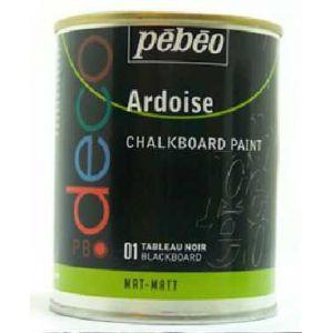 Pebeo Peinture acrylique P.BO deco ardoise 250ml 01 - Noir