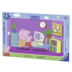 Ravensburger Puzzle cadre : Peppa pig devant l'ordi (15 pièces)