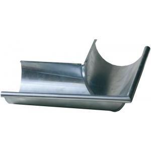 Umicore 220010978 - Equerre gouttière 1/2 ronde zinc naturel de 25 extérieur sans pince