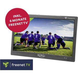 Xoro PTL 1050 Téléviseur portable 25.6 cm 10.1 pouces avec 6 mois dabonnement freenet TV, fonctionnement sur batterie, avec câble de connexion Auto 12 V, avec