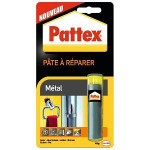 Pattex Pâte à réparer fer et métaux, gris, 48g