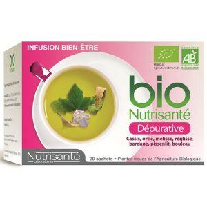Nutrisanté Infusion bio dépurative - Boîte de  20 sachets