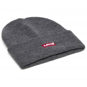 Levi's Red Batwing Embroidered Slouchy Beanie Bonnet, Gris (Regular Grey 55), One Size Homme