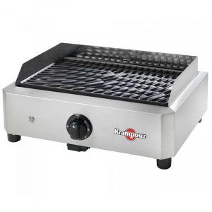 Krampouz Mythic - Barbecue électrique en inox et plaque en fonte émaillée