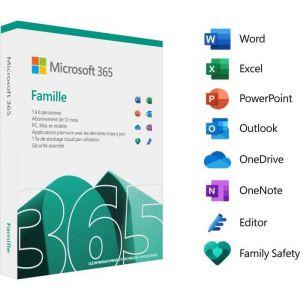Logiciel Abonnement 365 Famille (12 mois - 6 utilisateurs) | version boite [Windows]