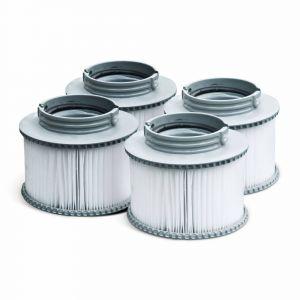 Alice's Garden Pack de 4 filtres pour Spa - Camaro, Super Camaro, Alpine 4 et 6, Silver Cloud 4 et 6, Bliss 6 et Mono 6-4 Cartouches filtrantes de Remplacement pour Jacuzzi Gonflable mspa
