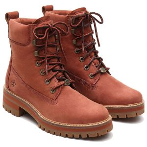 Timberland Courmayeur Valley 6in velours Femme-36-Paprika
