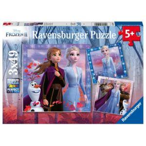 Ravensburger Puzzles 3x49 pièces Le voyage commence La Reine des Neiges 2