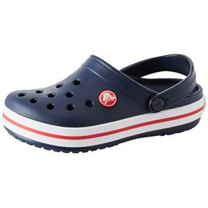 Crocs Crocband Clog Kids, Sabots Mixte Enfant, Bleu (Navy/Red), 20-21 EU