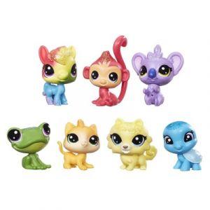 Hasbro Tube de 7 figurines Littlest PetShop Arc-en-ciel