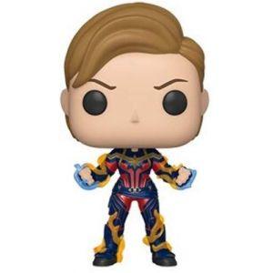 Funko Figurine Pop! Marvel : Endgame - Captain Marvel Nouvelle Coupe de Cheveux