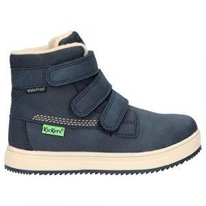 Kickers Yepokro WPF, Sneakers Haute Garçon, Marine, 37