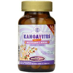 Solgar Kangavites arôme fruits rouges (60 comprimés)