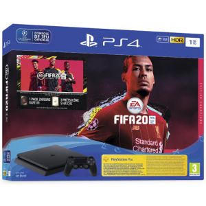 Sony Pack Ps4 Slim 1to Noire + Fifa 20 Champions (Exclusivite Micromania)