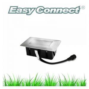 Easy Connect Mini Spot encastrable rectangle 6x10cm Inox Mini DECK Light 2W LED integrés IP67 Blanc Froid extérieur - 65440