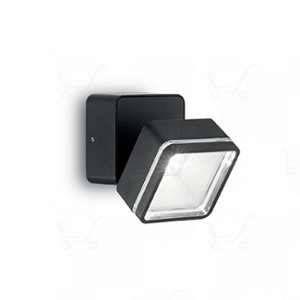 Ideal lux Spot extérieur led Omega Noir Aluminium 165370