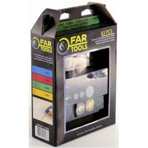 Far Tools 115843 - Set 43 accessoires pour verre et porcelaine