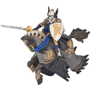 Papo 36001 - Prince noir au dragon et son cheval
