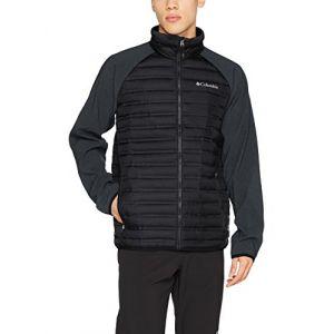 Columbia Homme Veste, Flash Forward Hybrid Jacket, Polyester, Noir