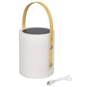 Bo-Camp Lampe de table Longford Blanc LED