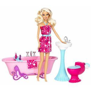 Mattel Barbie et mobilier - Salle de bain