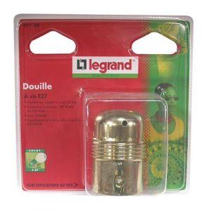 Legrand Douille E27 métallique lisse + 2 bagues - Accessoire luminaire