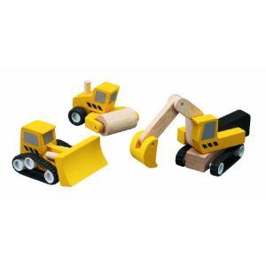 Plan Toys 3 véhicules de chantiers
