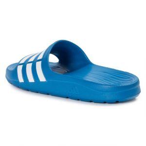 Adidas Originals Duramo Slide Bleue Et Blanche Sandales Enfant