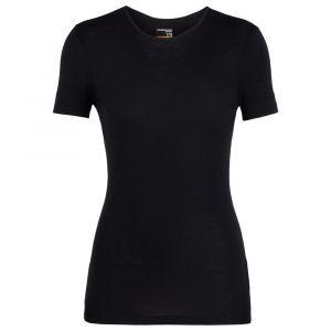 Icebreaker Women´s 175 Everyday S/S Crewe - Sous-vêtement mérinos taille M, noir