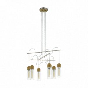 Eglo Suspension ampoules salon Zacharo D70 cm - Nickel