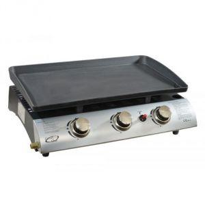 Kitchen C.C. 1003AZT - Plancha à gaz 3 brûleurs