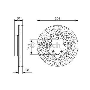 Bosch Disque de frein 0986479C99