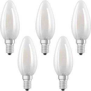 Osram Ampoule LED E14 4058075090682 en forme de bougie 4 W = 40 W blanc chaud (Ø x L) 35 mm x 100 mm EEC: classe A++ à f