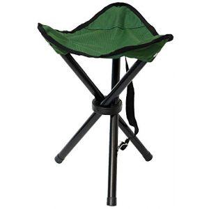 Eyepower Tabouret Pliant pour Camping pêche randonnée Pique-Nique Siege trépied Facile à Transporter Vert