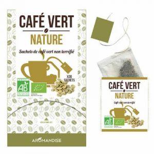 Aromandise Café vert nature - Boîte de 20 sachets