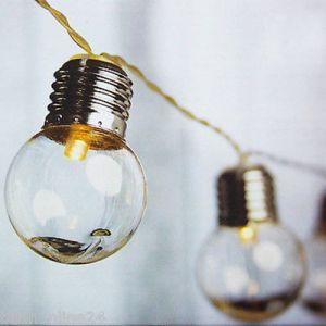 Guirlande lumineuse intérieur/extérieur guinguette 20 LED (D.5cm) 390cm