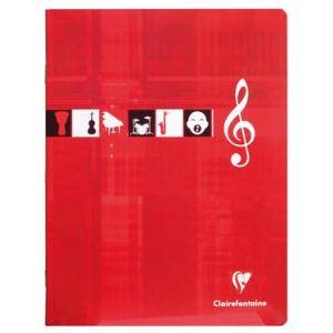Clairefontaine Metric (3799C) - Cahier de musique et chant 17x22 56 pages