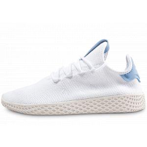 Adidas Pharrell Williams Tennis Hu Blanche Et Bleu Baskets/Rétro-Running/Baskets Enfant