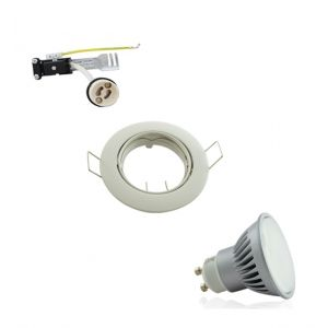 Polar lighting Kit Spot Encastrable Orientable Blanc LED GU10 7W (60W) Blanc Naturel