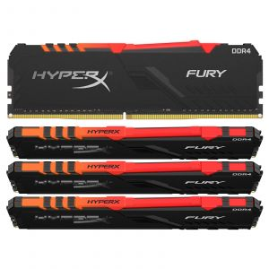 Kingston HyperX Fury RGB 64 Go (4x 16 Go) DDR4 3466 MHz CL16