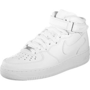 Nike WMNS Air Force 1 Mid '07 Le, Sneaker Femme, Blanc (White), 36.5