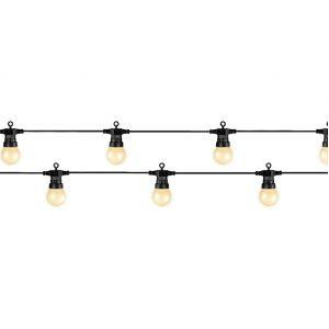 Kaemingk Guirlande lumineuse 20 Led ampoules fumées - Blanc chaud -
