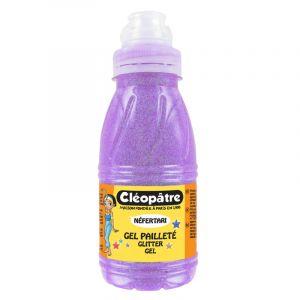 Cleopatre Gel pailleté fluo 250 ml Violet